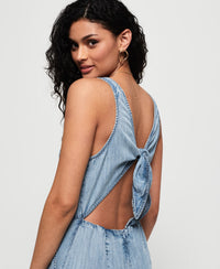 Ingrid Culotte Jumpsuit - Blue