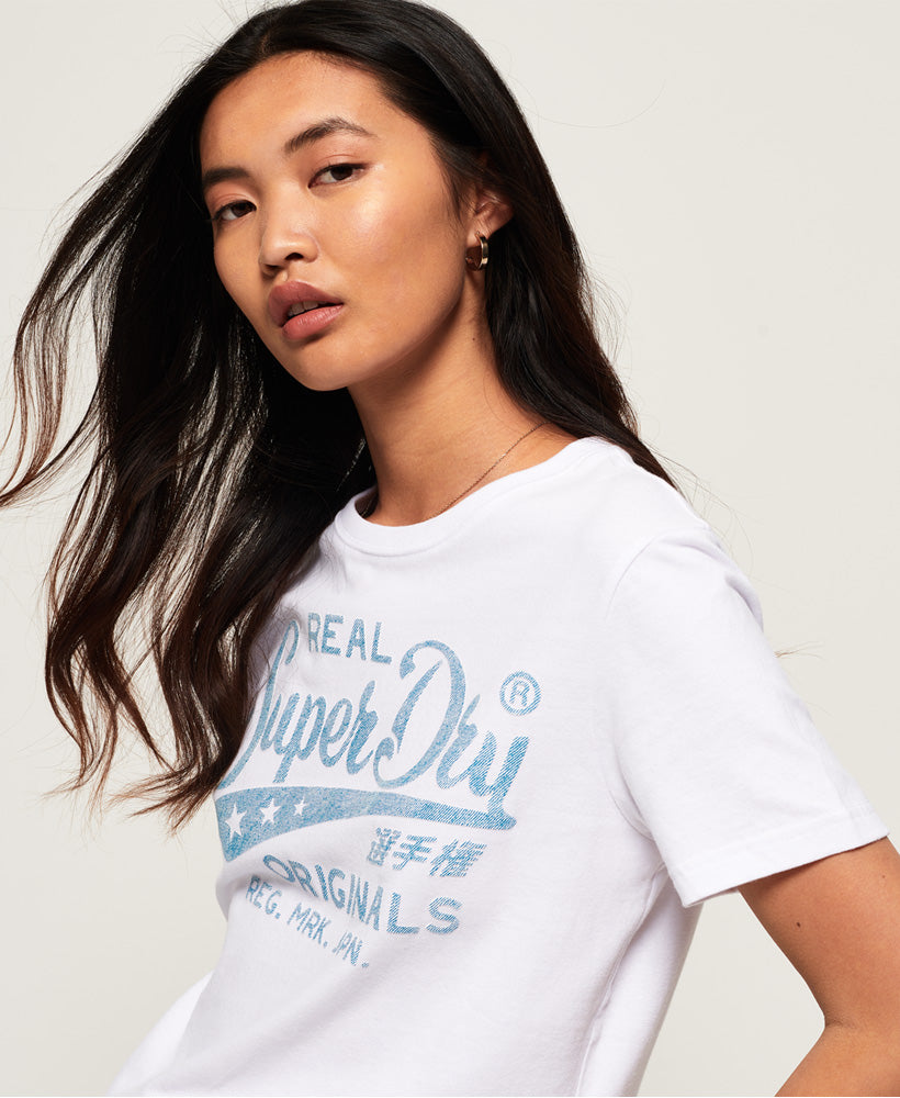 Real Originals Mock Denim Entry Tee - White