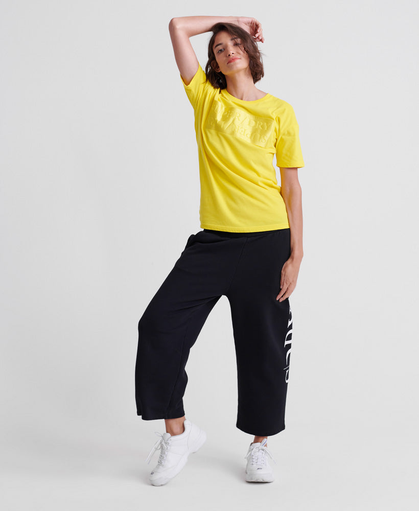 Edit Satin Portland Organic Cotton T-Shirt - Yellow