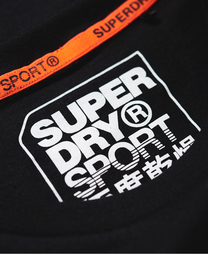 Core Sport Small Logo Tee - Black
