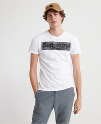 Camo International Infill Tee - White - Superdry Malaysia