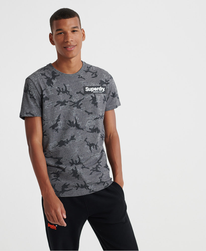 Camo International All Over Print Tee - Light Grey