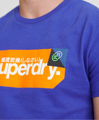 Core Logo Tag T-Shirt - Blue - Superdry Malaysia