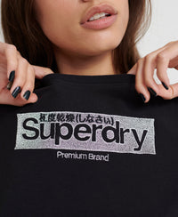 Premium Brand Embroidered T-Shirt - Black - Superdry Malaysia