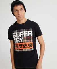 Crafted Check T-Shirt - Black - Superdry Malaysia
