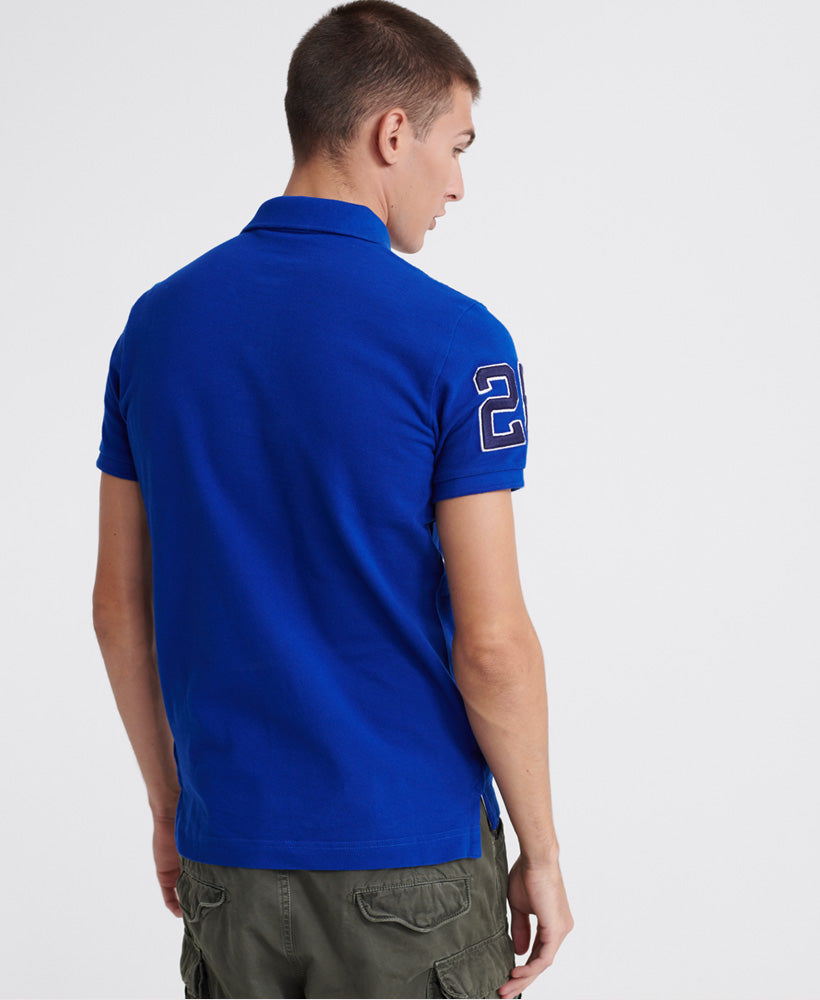 Classic Superstate Polo Shirt - Dark Blue - Superdry Malaysia