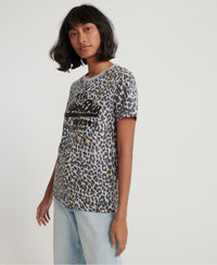 Vintage Logo Animal All Over Print T-Shirt - Grey