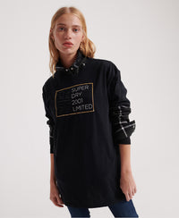 Mila Oversized Graphic T-Shirt - Black