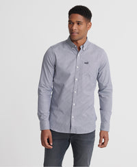 Classic London Long Sleeve Shirt - Navy - Superdry Malaysia