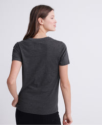 Real Original Glitter Embossed T-shirt - Dark Grey