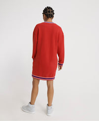 Campus Sweat Dress - Red
