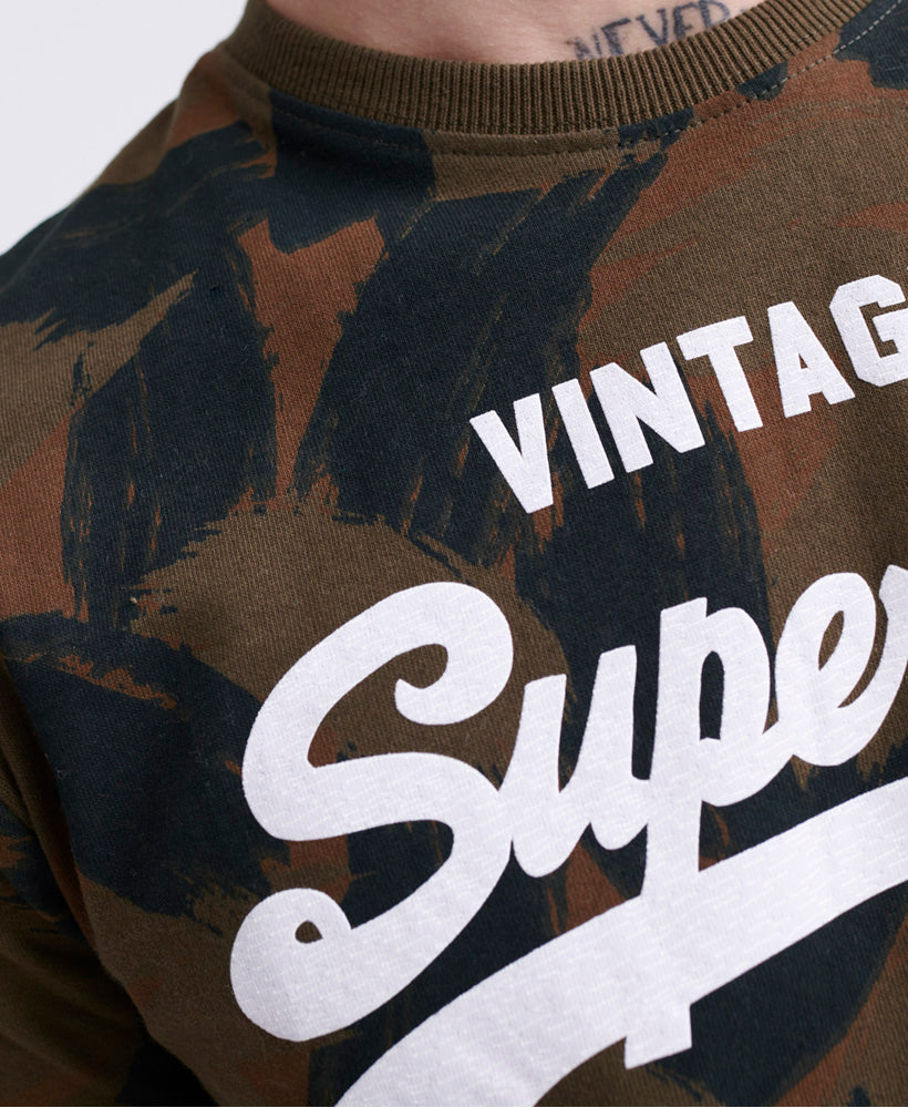 Vintage Logo All Over Print T-Shirt - Green