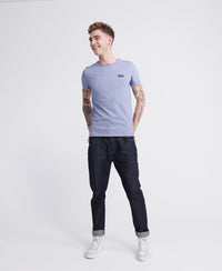 Orange Label Vintage Embroidered T-Shirt - Blue