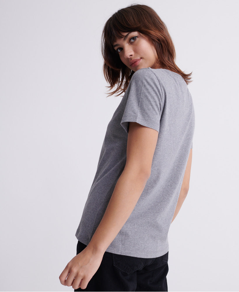 Orange Label Elite Crew T-Shirt - Grey