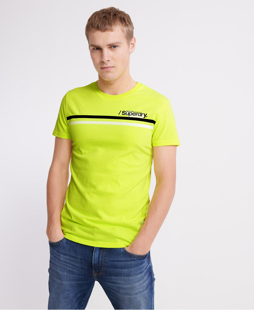 Core Logo Sport Stripe T-Shirt - Yellow