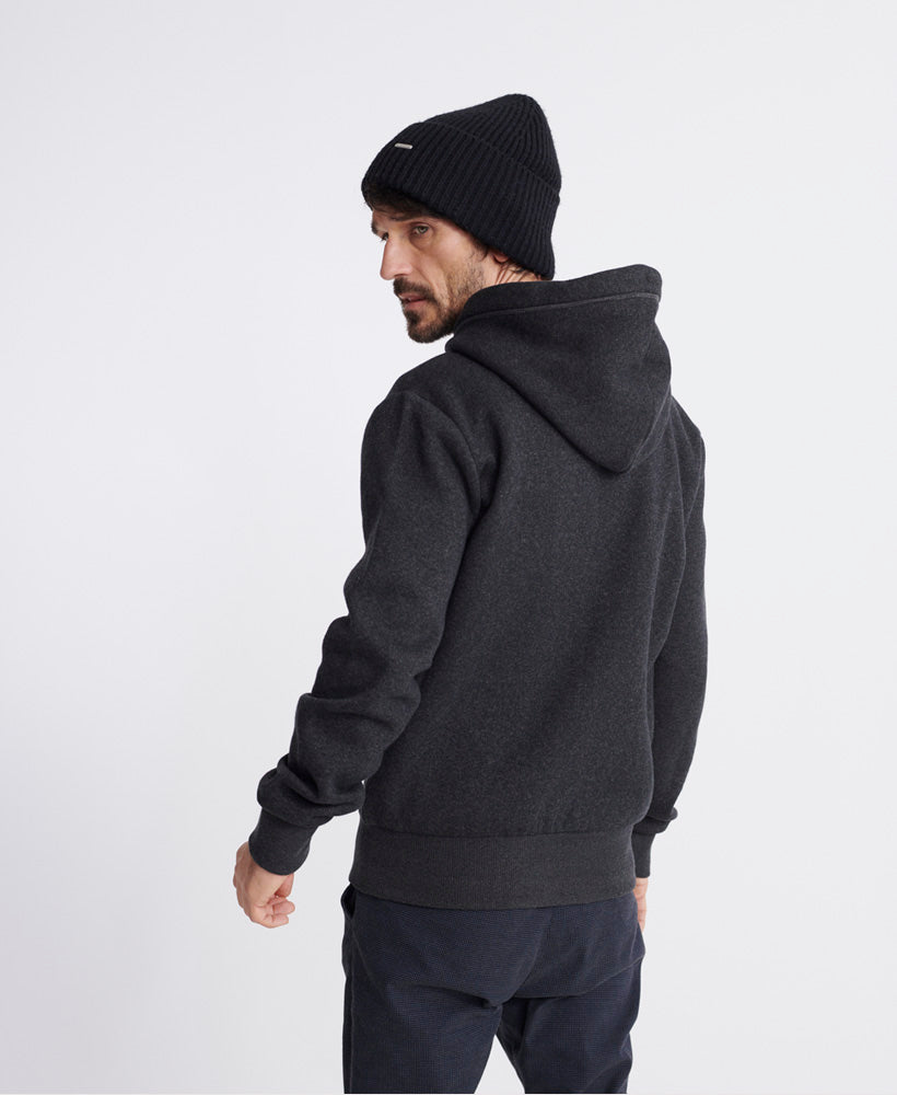 Orange Label Classic Zip Hoodie - Dark Grey