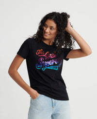 The Real Ombre Sequin T-Shirt - Black