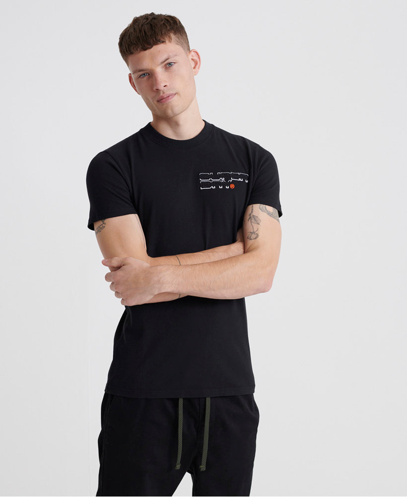 Trophy Embroidery T-Shirt - Black