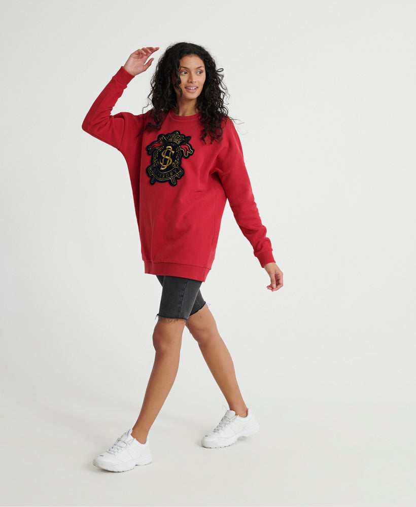 Varsity Crew Sweatshirt - Red
