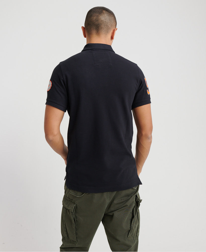 Classic Superstate Short Sleeve Polo Shirt - Black