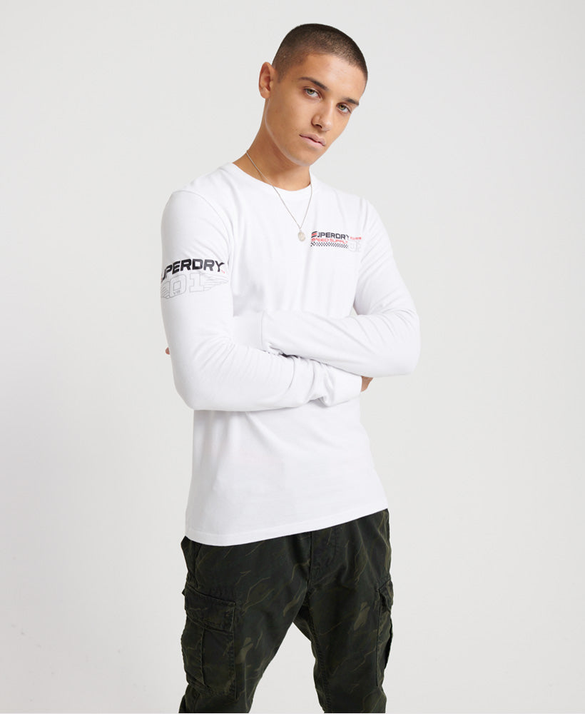 Desert Racer Long Sleeved Top - White
