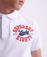 CNY Superstate Short Sleeve Polo - White