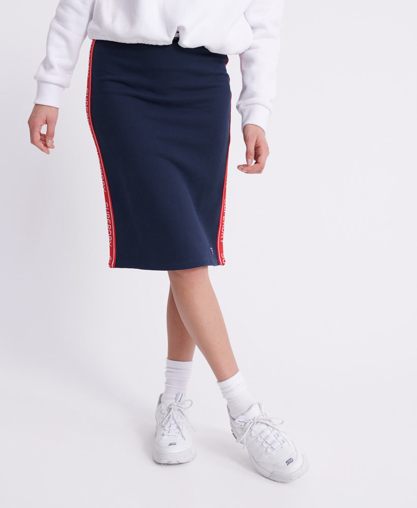 Orla Sweat Pencil Skirt - Navy