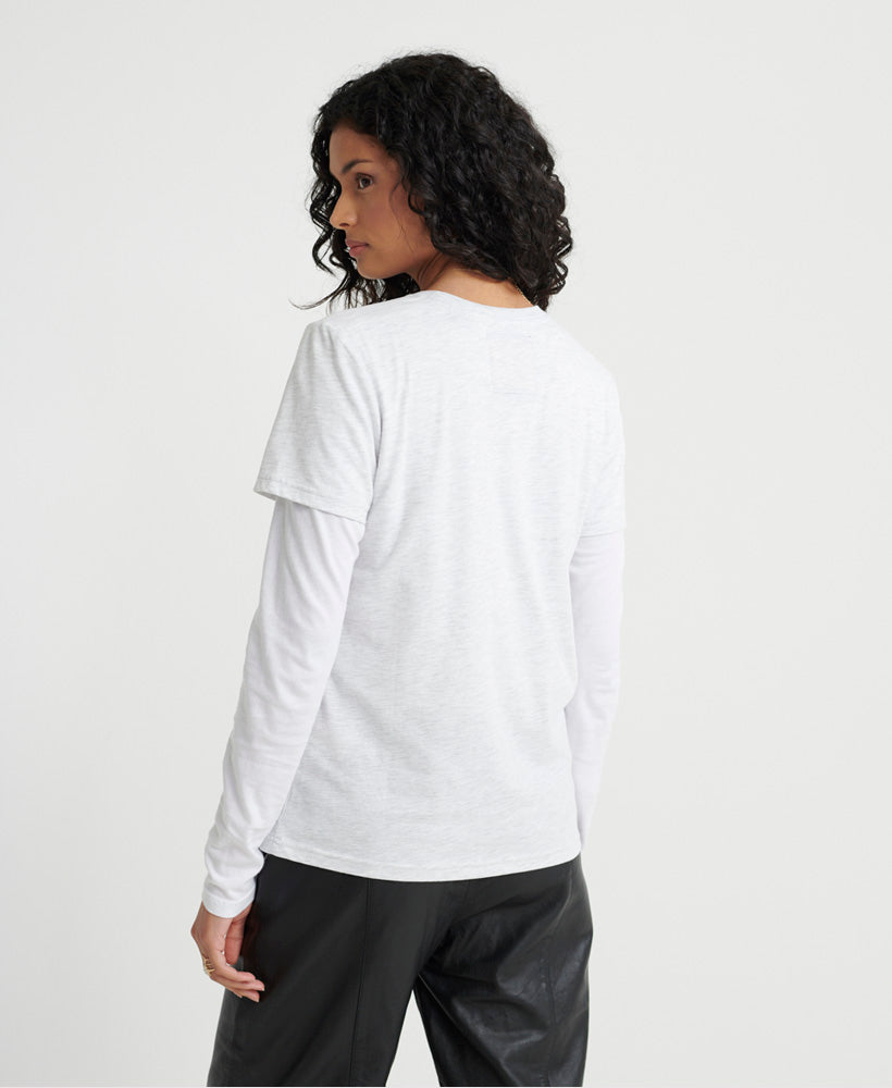 Swiss Logo Cascade T-Shirt - Light Grey