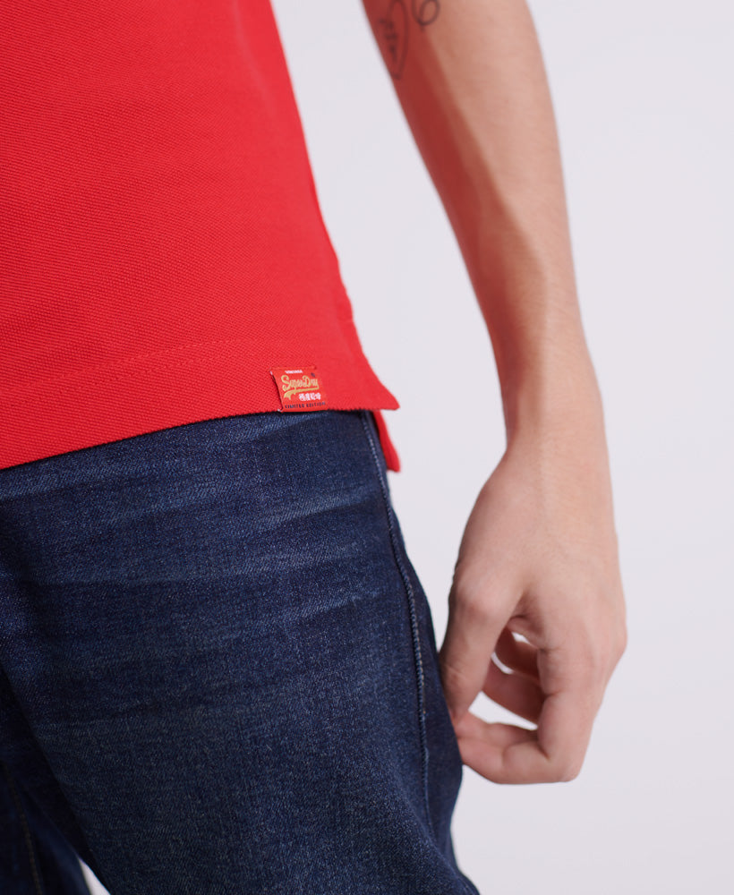 CNY Superstate Short Sleeve Polo - Red