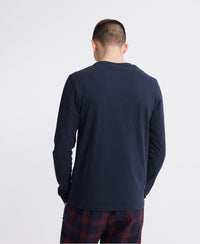 Orange Label Vintage Embroidery Long Sleeve Tee - Navy