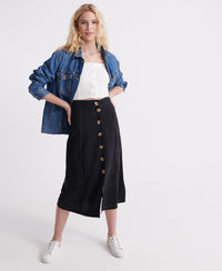 Valley Midi Skirt - Black