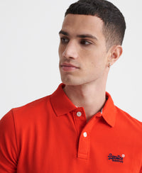 Classic Pique Short Sleeve Polo Shirt - Red