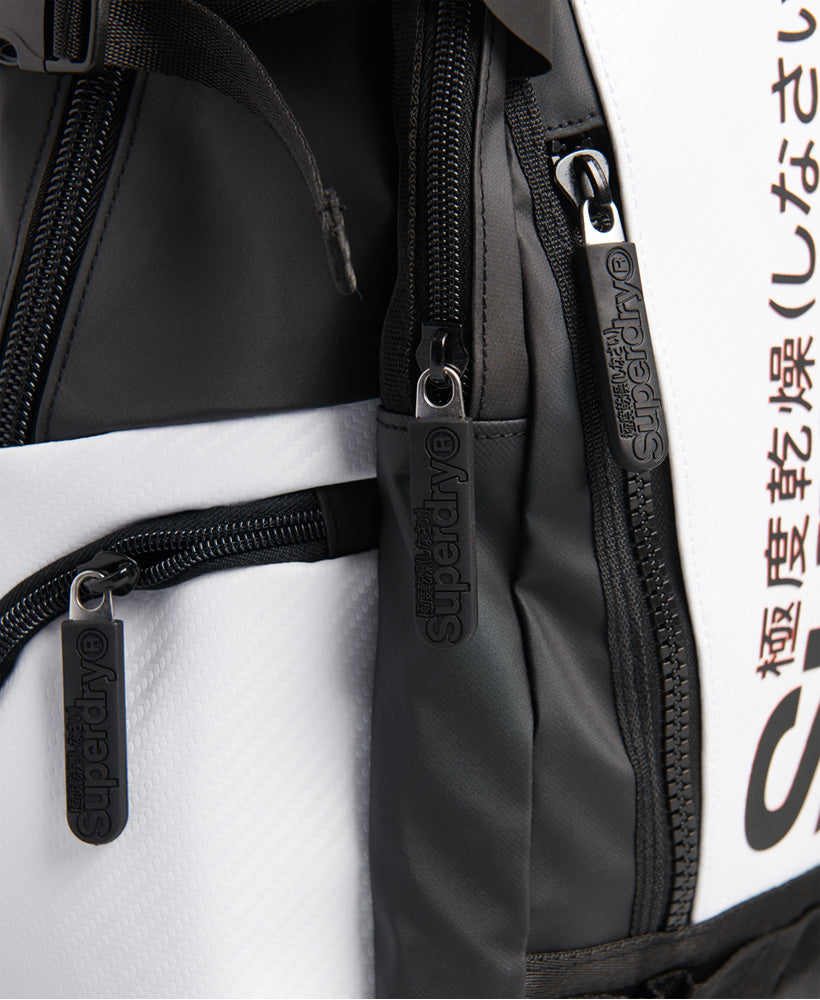 White Tarp Backpack - White
