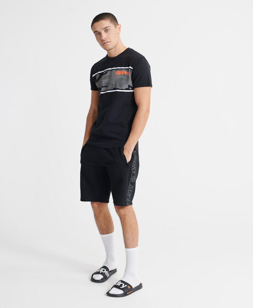 Core Logo Camo Stripe T-Shirt - Black