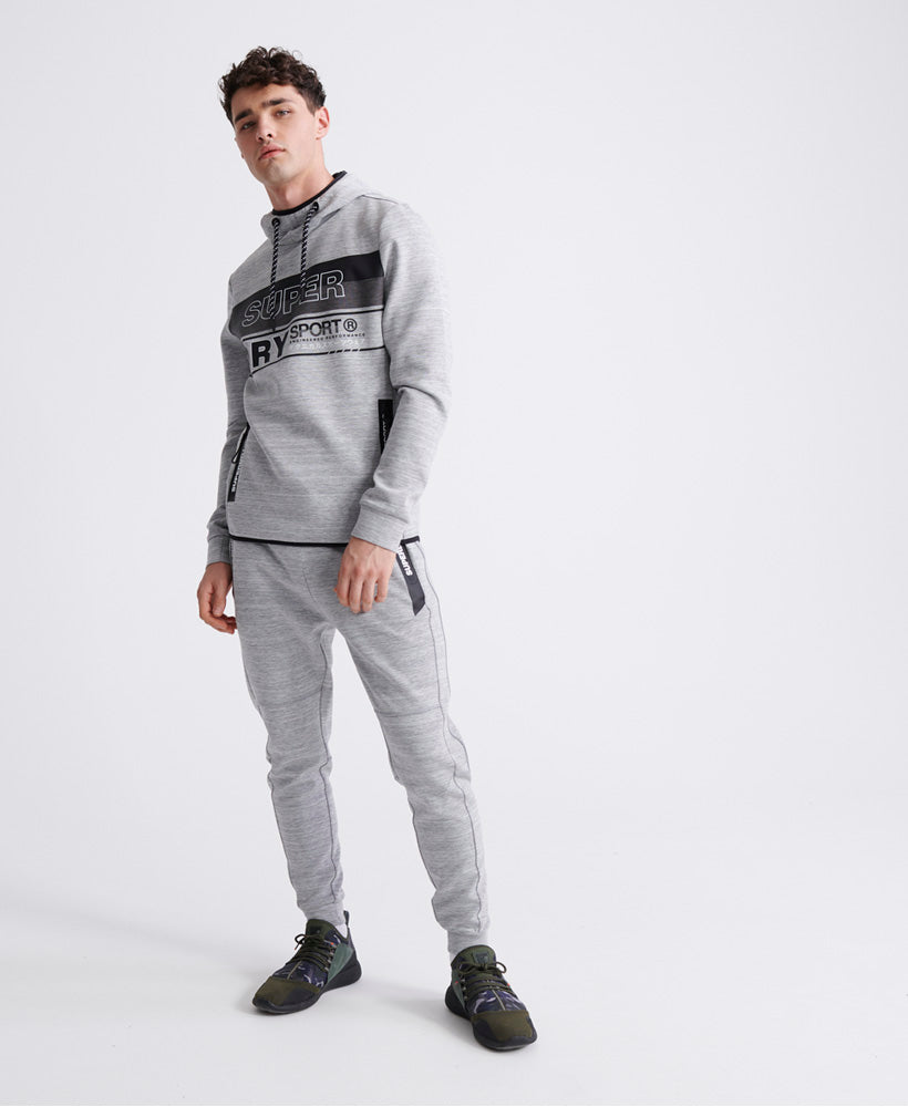 Gymtech Graphic Overhead Hoodie - Light Grey