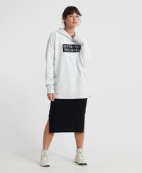 The Edit Split Hoodie - White