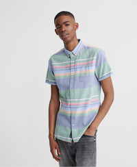 Classic East Coast Oxford Short Sleeved Shirt - Green