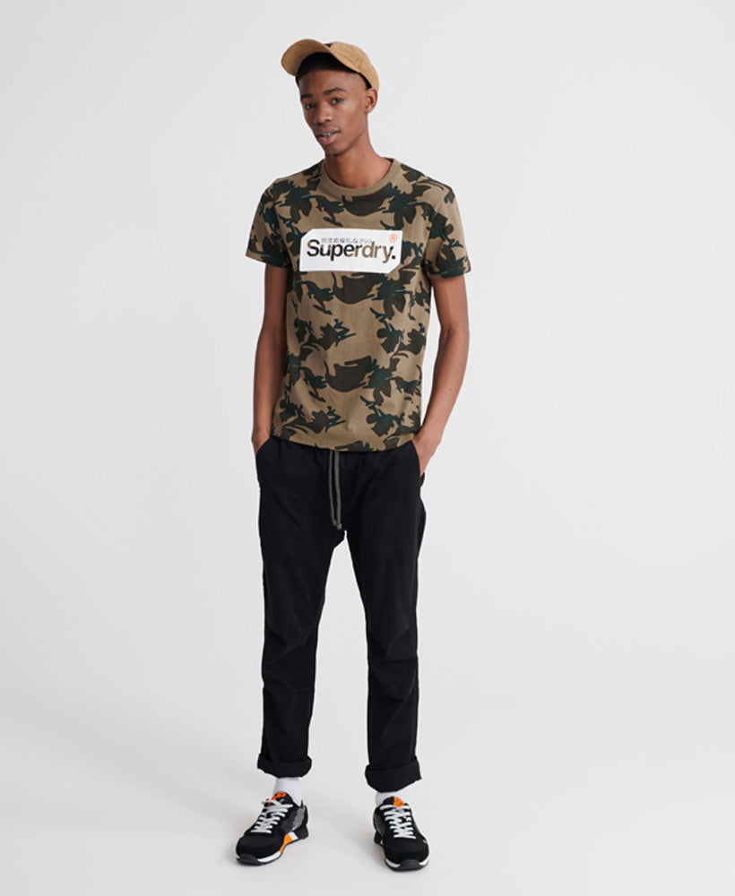 Core Logo Tag Camo All Over Print T-shirt - Green