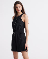 Nevada Halter Playsuit - Black