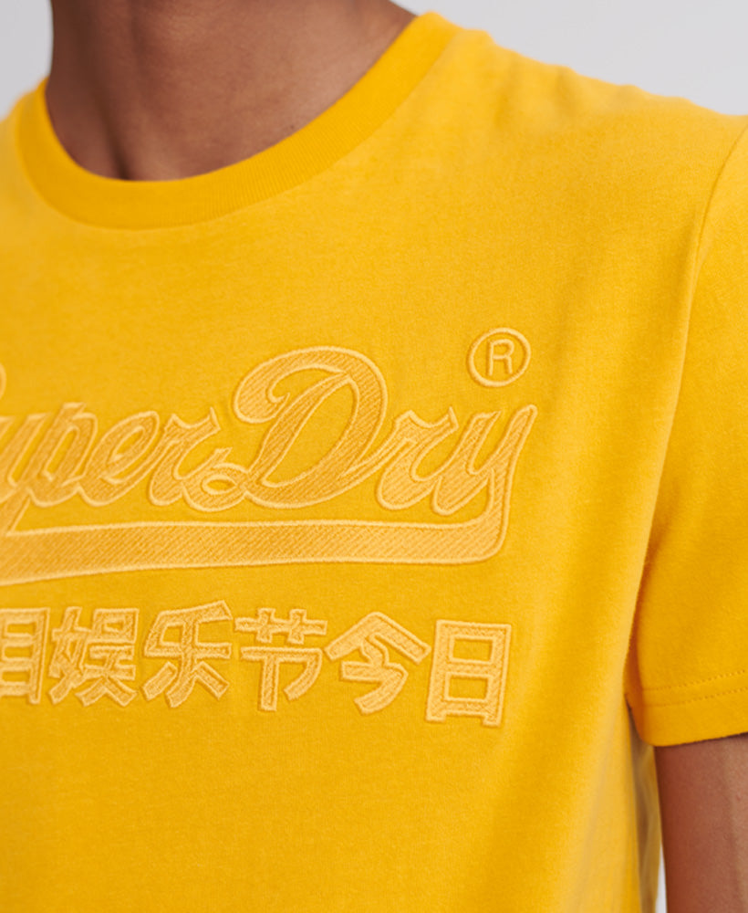 Vintage Logo Embroidered T-Shirt - Yellow