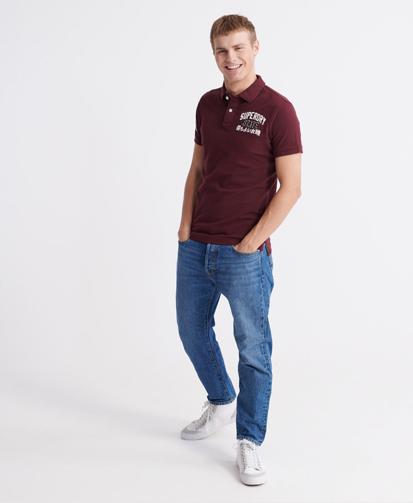 Classic Superstate Polo Shirt - Red - Superdry Malaysia