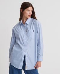 May Stripe Shirt - Light Grey