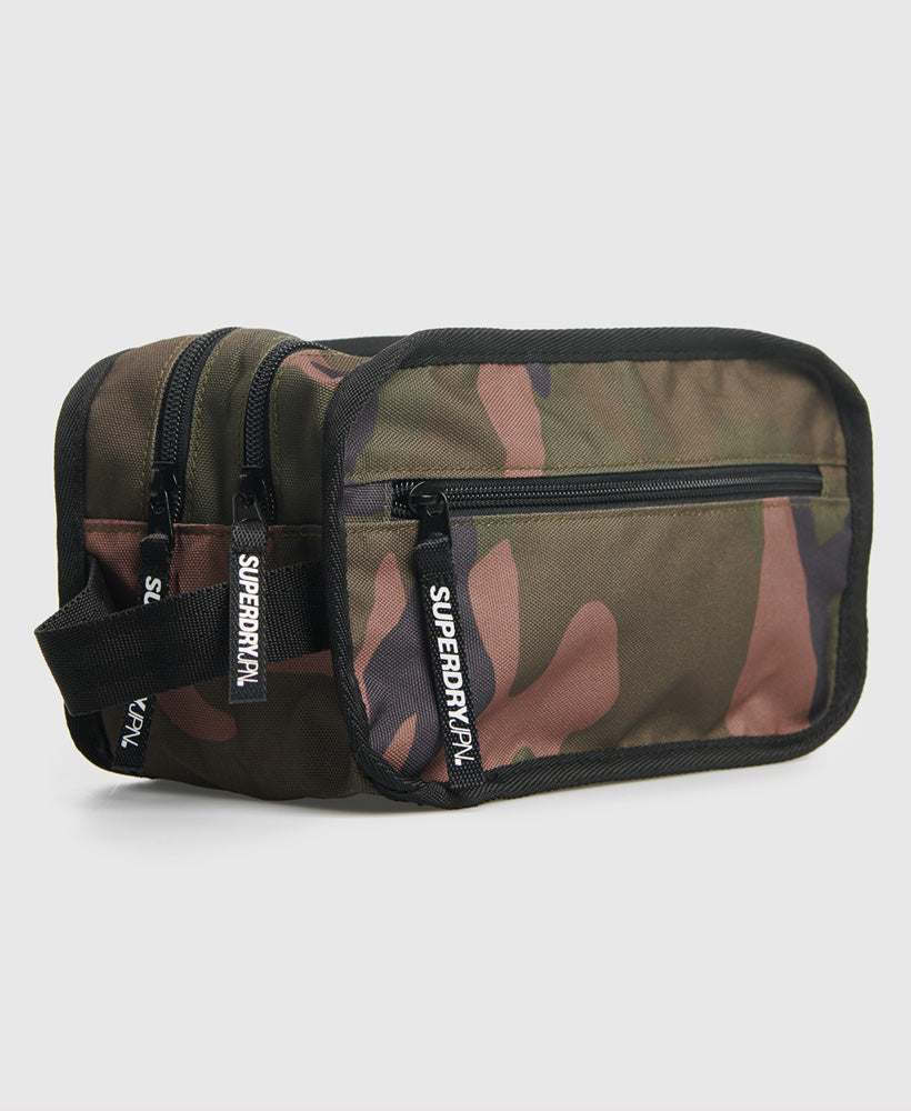 2 Zip Wash Bag - Green