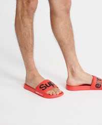 Classic Superdry Pool Sliders - Red