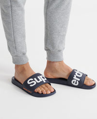 Classic Superdry Pool Sliders - Navy - Superdry Malaysia