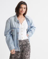 Boyfriend Trucker Jacket - Light Blue - Superdry Malaysia