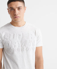 Embossed Pastel Line T-Shirt - White - Superdry Malaysia