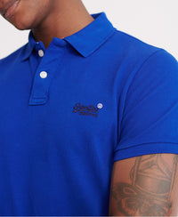 Classic Pique Short Sleeve Polo Shirt - Dark Blue
