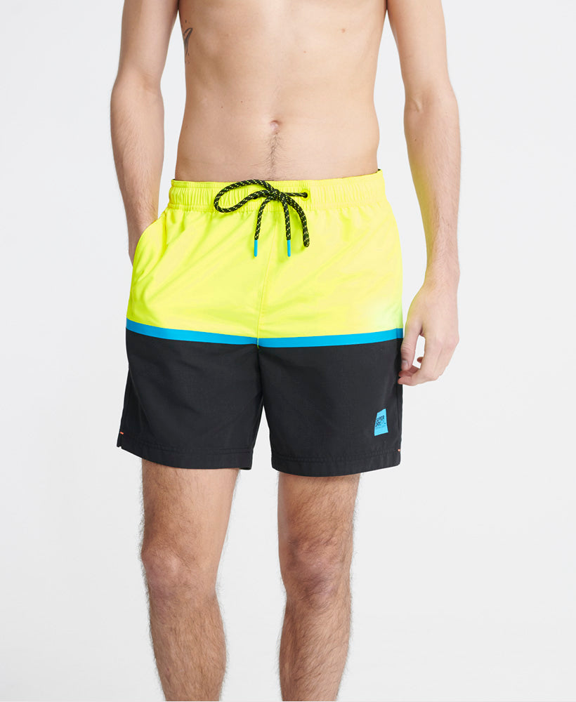 Colour Block Swim Shorts - Yellow