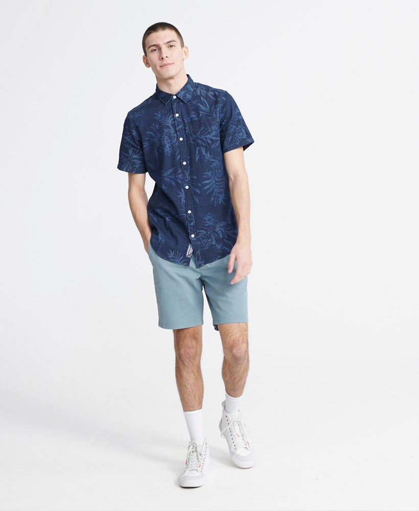 Miami Loom Short Sleeve Shirt - Dark Blue